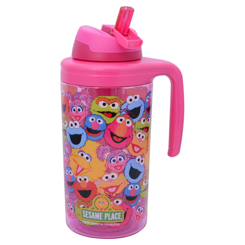 Sesame Collage Pink Tumbler 62.5 Ounces