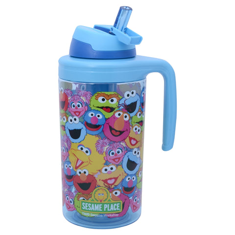 Sesame Collage Blue Tumbler 62.5 Ounces