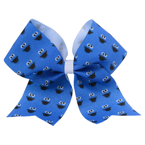 Cookie Monster Big Face Hair Bow