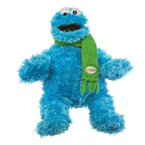 Sesame Place Cookie Monster Medium Plush with Scarf
