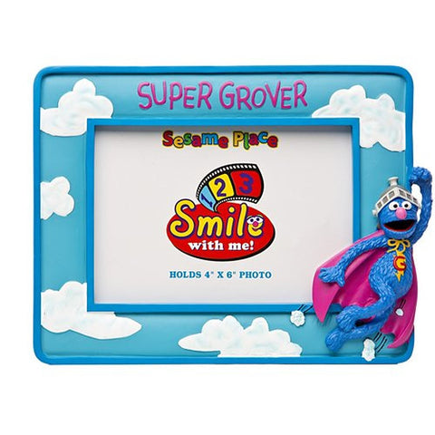 Sesame Place Flying Super Grover 4 X 6 Frame
