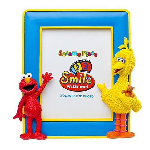 Sesame Place Elmo and Big Bird Vertical 6 X 8 Photo Frame