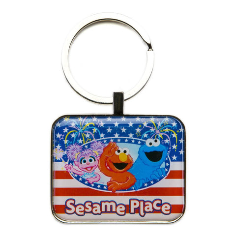 Sesame Place Patriotic Keychain