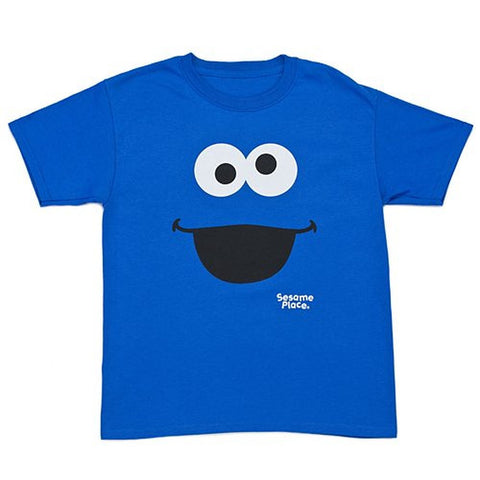 Sesame Place Cookie Monster Big Face Adult T-Shirt