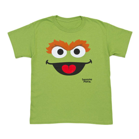 Sesame Place Oscar Monster Big Face Youth T-Shirt