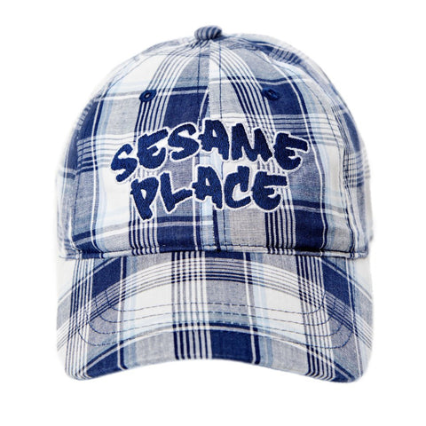Sesame Place Blue Plaid Youth Hat