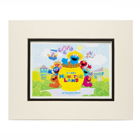 Cookie's Monster Land Matted Print