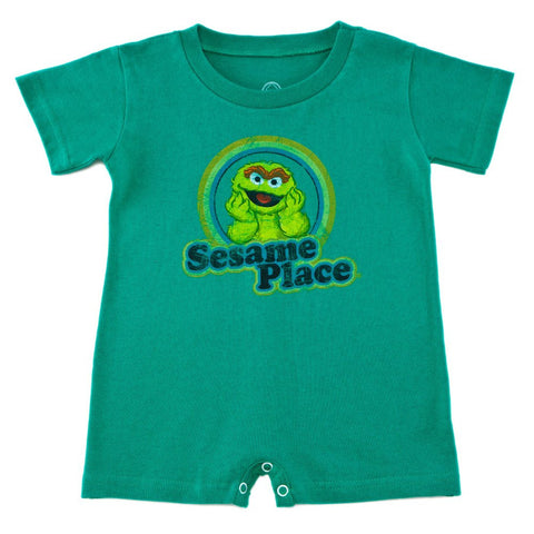 Sesame Place Oscar Retro Infant Romper