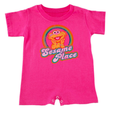 Sesame Place Zoe Retro Infant Romper