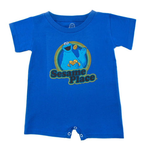 Sesame Place Cookie Monster Retro Infant Romper