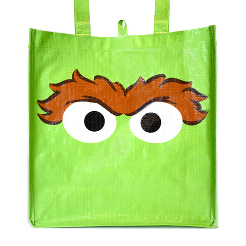Oscar the Grouch Big Face Reusable Bag