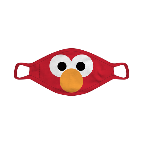 Big Face Elmo Reusable Mask - Youth