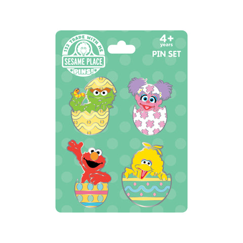 Sesame Easter Egg 4-pk Pin Set