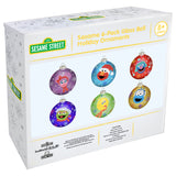 Sesame 6-Pack Glass Ball Holiday Ornaments