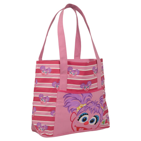 Abby Cadabby Striped Beach Tote Bag