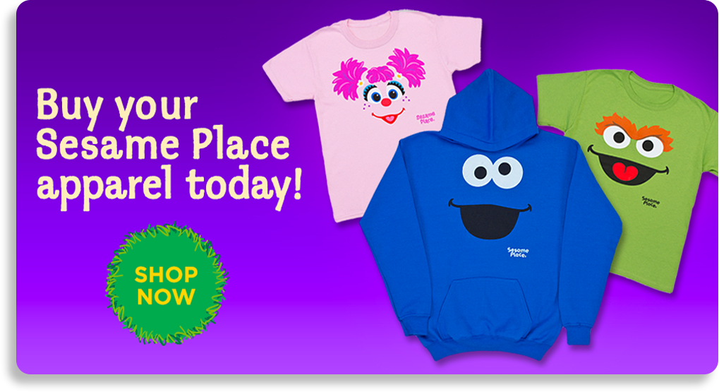 Buy your Sesame Place Apprarel today