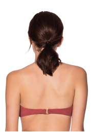 ROSE BLOOM STRAPLESS TOP