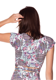 AFRICAN FLOWERS CROP TOP