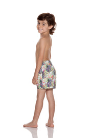 BOYS PRINT REGULAR FIT SWIM SHORT
