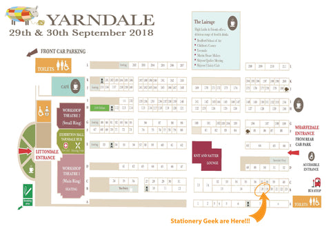 Yarndale 2018 floor plan