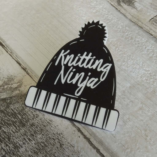 Knitting Ninja - Badge, Charm or Magnet