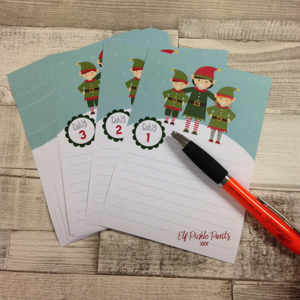 Elf Notepaper - great for Elf on the Shelf!