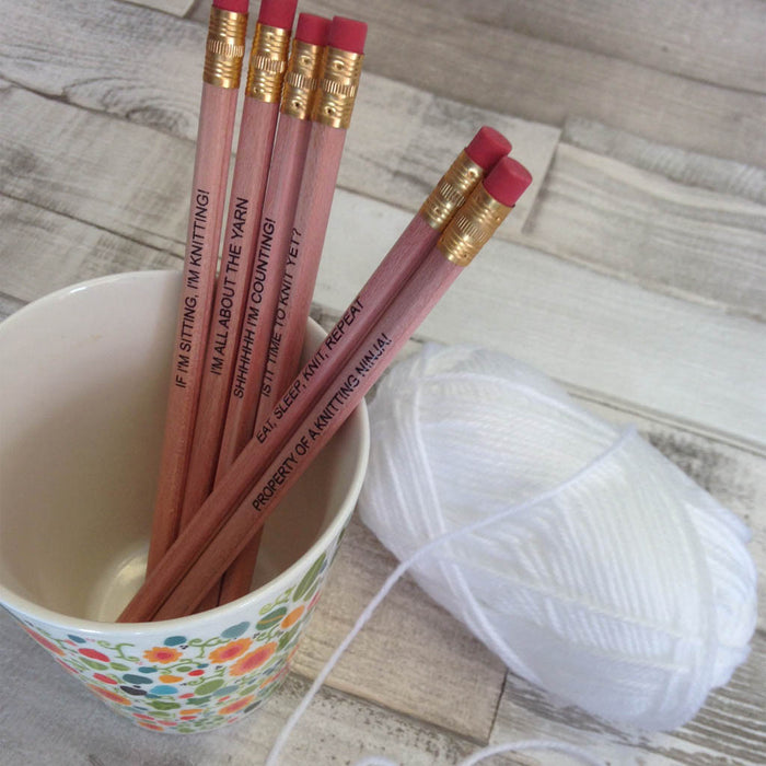 Knitting Pencils - Set of 6