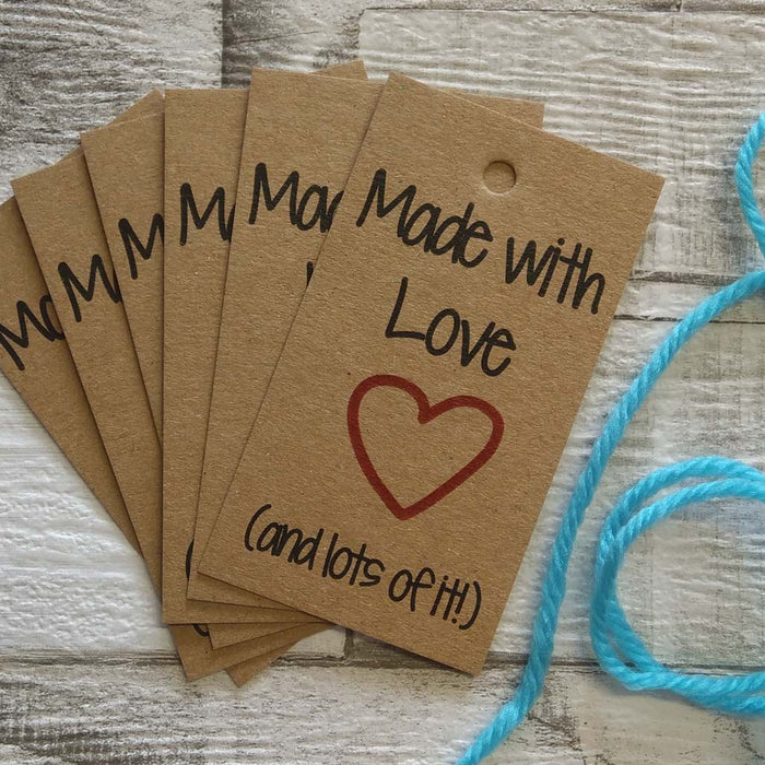 Made with Love (and lots of it!) Gift Tags