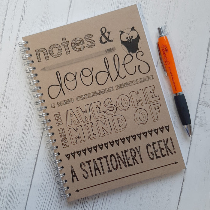 "Personalised Notebook - ""Notes & Doodles"""