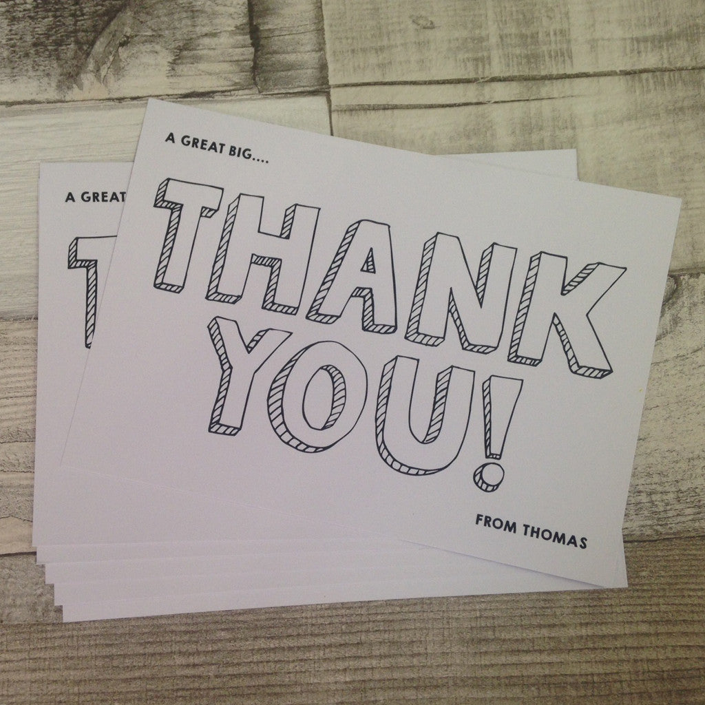 Thank You Postcards - Personalised!