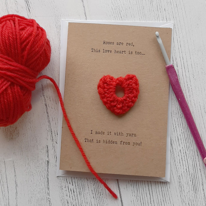 Valentines Card - add your own yarn creation
