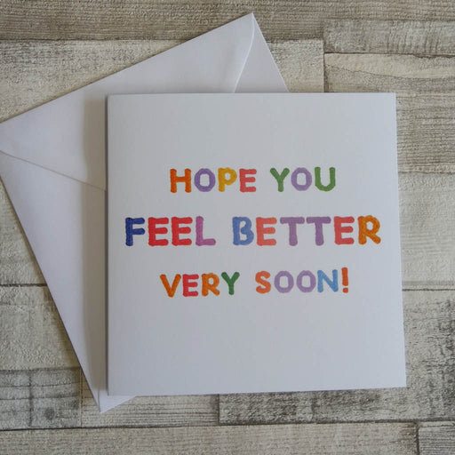 Knit Greetings Card - Feel Better Soon