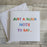 Knit Greetings Card - A Quick Note to Say...