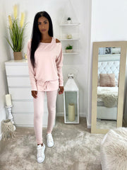 OFF THE SHOULDER LOUNGE 3 PC VARIOUS COLOURS