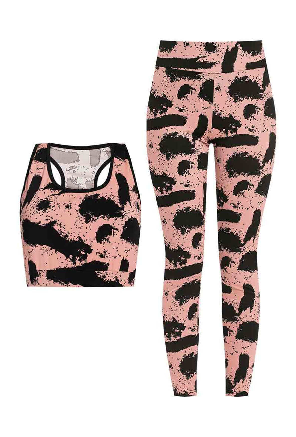 ACTIVE SET CROP TOP AND LEGGINGS VARIOUS COLOURS