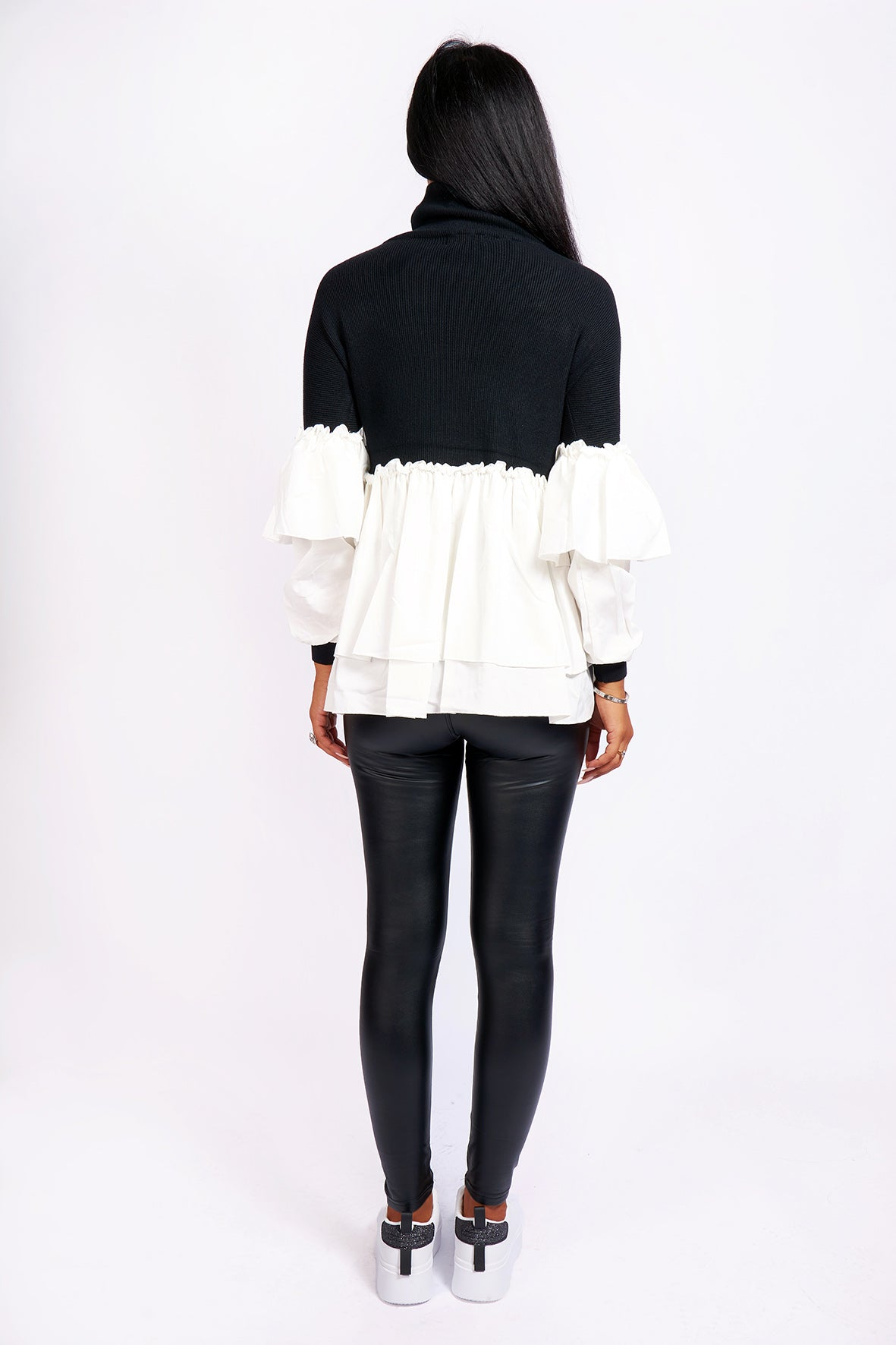 CONTRAST SHIRT JUMPER VARIOUS COLOURS