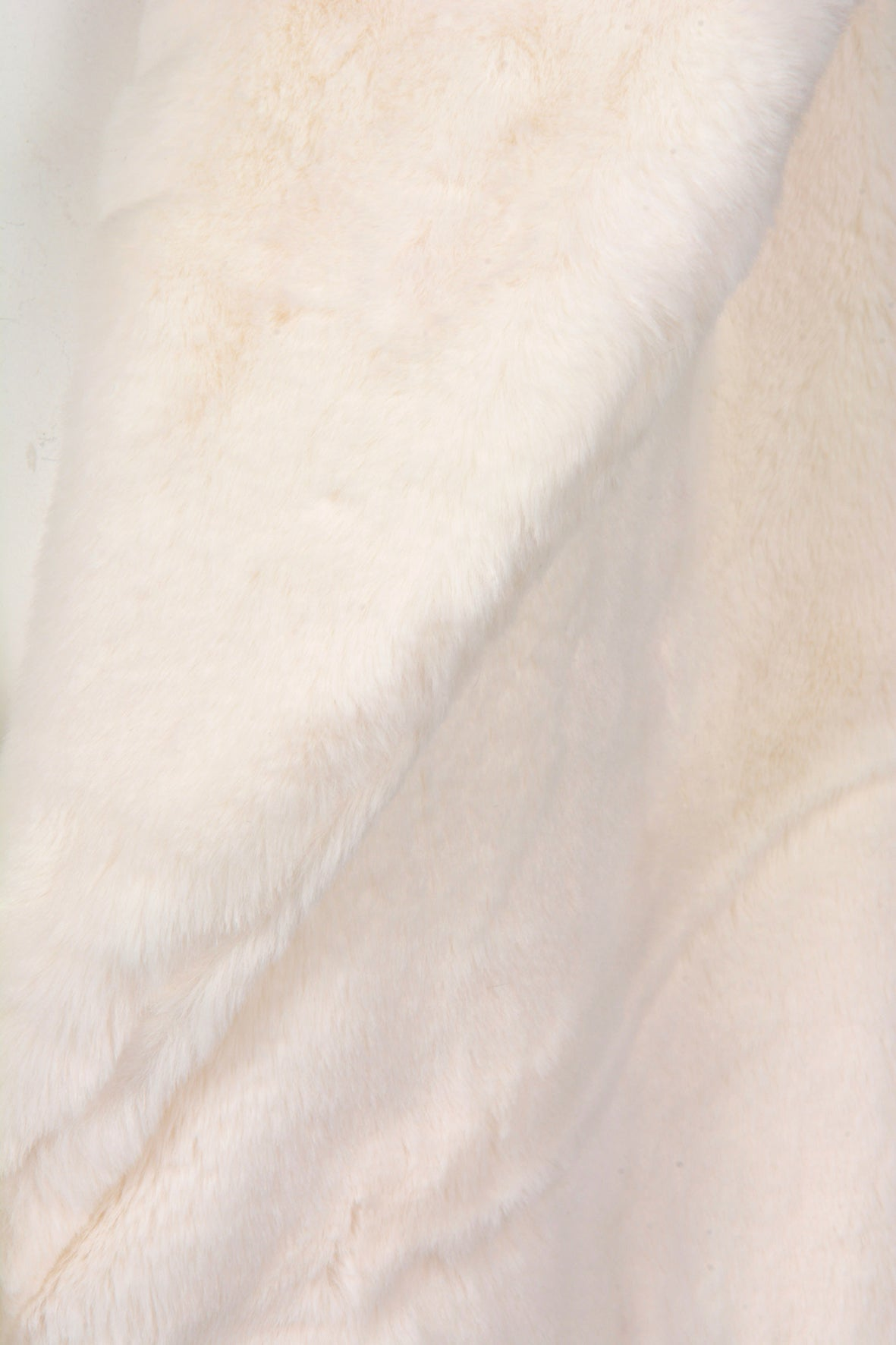 LONG FAUX FUR COAT WHITE