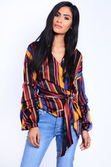 WRAP OVER TOP MULTI COLOUR
