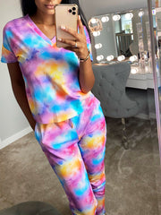 TIE DYE LOUNGE SET VARIOUS COLOURS