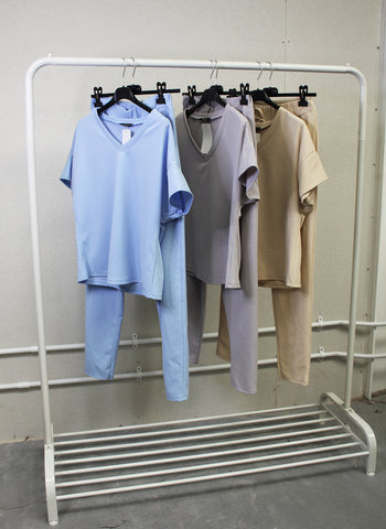 V-NECK LOUNGESET VARIOUS COLOURS