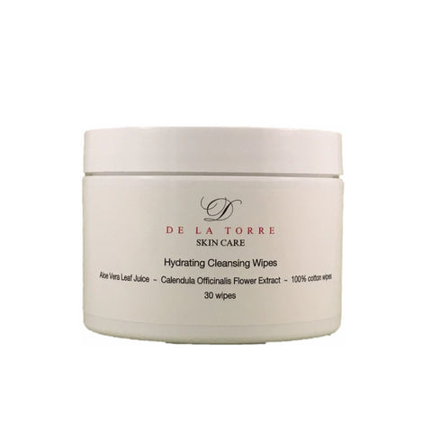 Hydrating Cleansing Wipes remove makeup easily while nourishing skin.