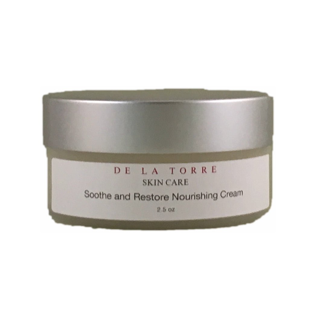 Soothe and Restore Nourishing Cream is a rich and hydrating moisturizer for extremely dry, chapped, sensitive skin.