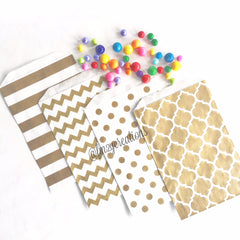 POLKA DOT FAVOR BAGS: GOLD - From Me 2 You Creations