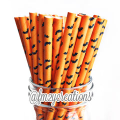 PATTERN PAPER STRAWS: HALLOWEEN BATS - From Me 2 You Creations