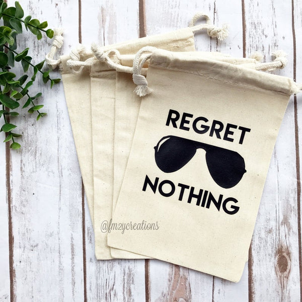 Regret Nothing Black Hangover Kit Bag