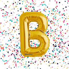 "Gold Mylar 40"" Letter Balloon 