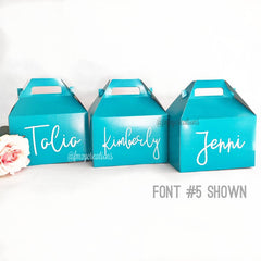Custom Gable Box - Font #5