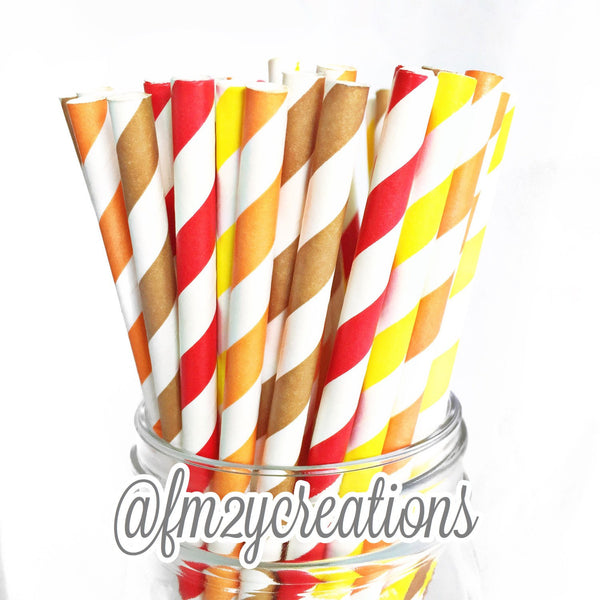 COMBO PAPER STRAWS: Thanksgiving | Fall Harvest