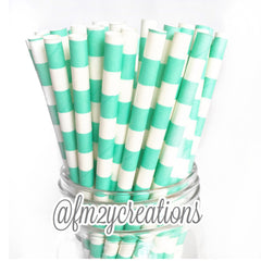 CIRCLE PAPER STRAWS: Aqua - From Me 2 You Creations