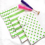 CIRCLE PAPER STRAWS: Lime Green - From Me 2 You Creations